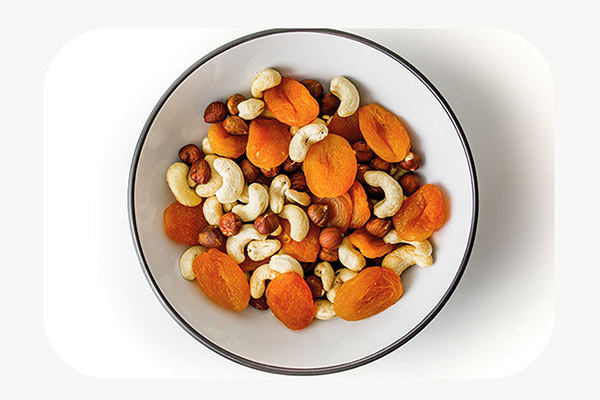 Cashews, Hazelnuts and Apricots