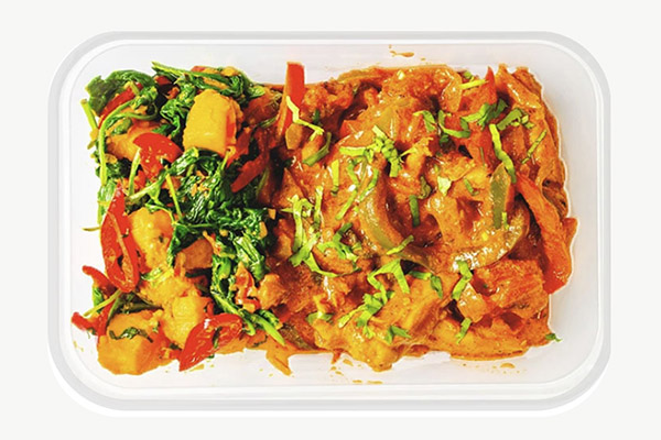 Chicken Thigh Jalfrezi, Sweet Potato Saag Aloo - 450