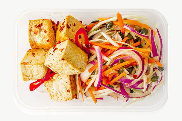 Chilli & Ginger Tofu Served With Slaw - 450