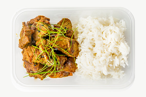 Chunky Beef Curry & White Rice - 450