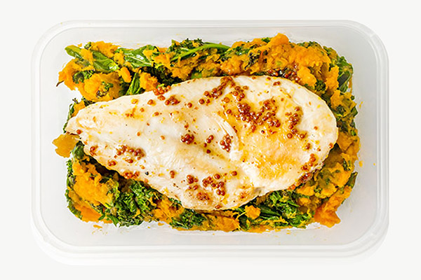 Honey & Mustard Chicken With Sweet Potato & Kale Mash - 450