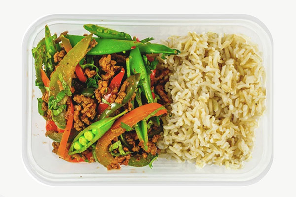 Minced Beef and Sweet Bell Pepper with Basmati Rice